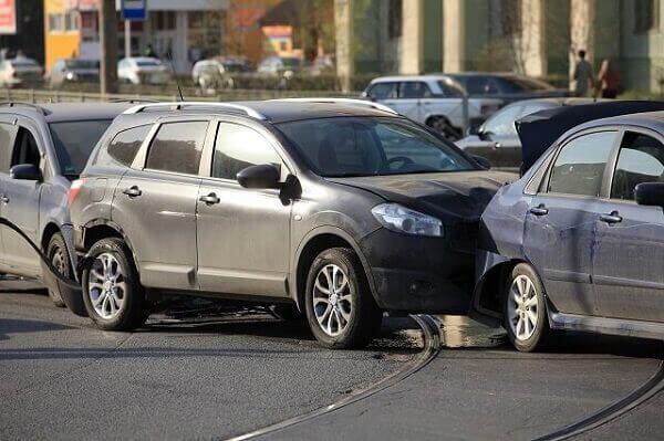 accident involving three cars